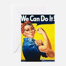 Vintage Rosie the Riveter Greeting Card