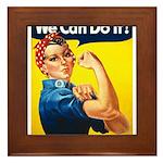 Vintage Rosie the Riveter Framed Tile
