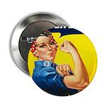 Vintage Rosie the Riveter 2.25