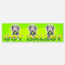 Weimaraner Got Balls? Sticker (Bumper)
