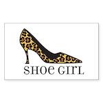 shoe girl Rectangle Sticker 50 pk)