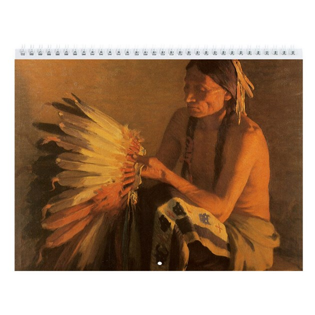 Vintage Native American Wall Calendar By Masterpiececafe