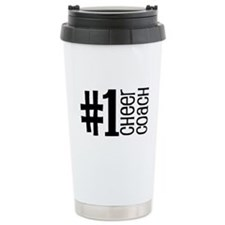 #1 Cheer Coach Travel Mug