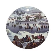 Central Park in Winter Ornament (Round)