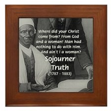 Lincoln with Sojourner Truth Framed Tile