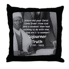 Lincoln with Sojourner Truth Throw Pillow