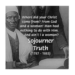 Lincoln with Sojourner Truth Tile Coaster