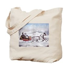 The Road Winter Tote Bag