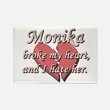 Monika broke my heart and I hate her Rectangle Mag