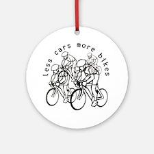 Less cars more bikes v2 Ornament (Round)