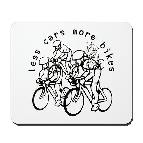 Less cars more bikes v2 Mousepad