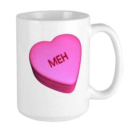 "Candy ""Meh"" Heart Large Mug"