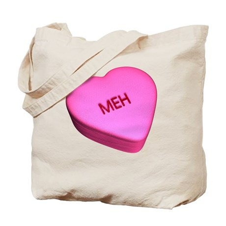 """Candy """"Meh"""" Heart Tote Bag"""