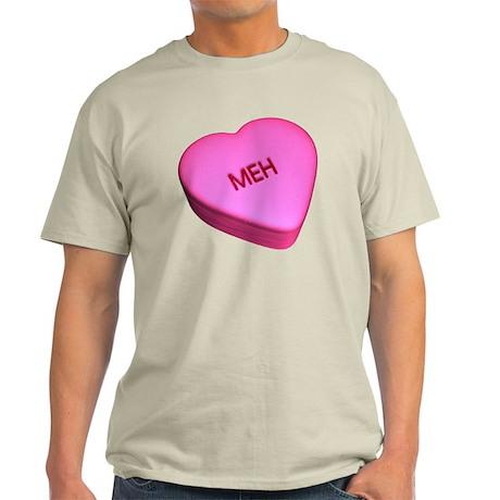 """Candy """"Meh"""" Heart Light T-Shirt"""