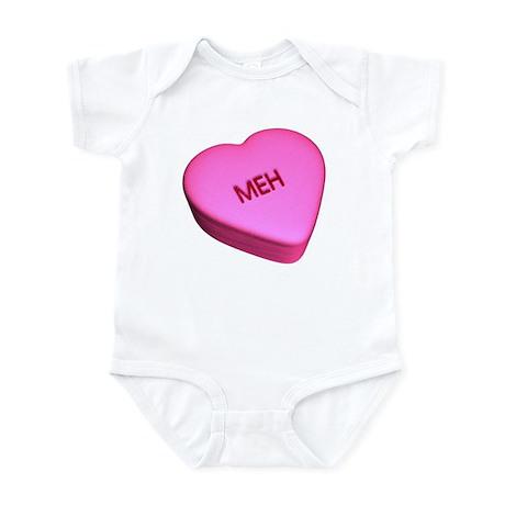 "Candy ""Meh"" Heart Infant Bodysuit"