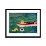 Lifeboat Black and Yellow Labs Framed Panel Print