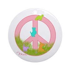 PEACE FOR THE ANIMALS Ornament (Round)