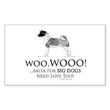 oddFrogg Akita Big Dogs Need Love Bumper Decal
