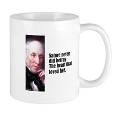 "Wordsworth ""Nature Never"" Mug"