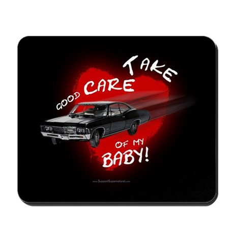 Baby - with text (black) Mousepad