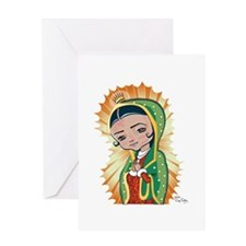 Virgen Lupita Greeting Card