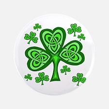 "Celtic Shamrocks 3.5"" Button"