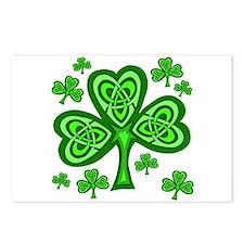 Celtic Shamrocks Postcards (Package of 8)