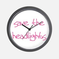 save the headlights Wall Clock