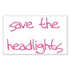 save the headlights Rectangle Decal