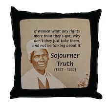 Feminist Sojourner Truth Throw Pillow