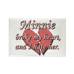 Minnie broke my heart and I hate her Rectangle Mag