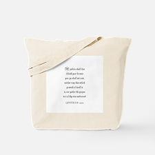 LEVITICUS  25:11 Tote Bag