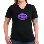 Executive Princess Women's V-Neck Dark T-Shirt