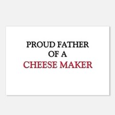 Proud Father Of A CHEESE MAKER Postcards (Package