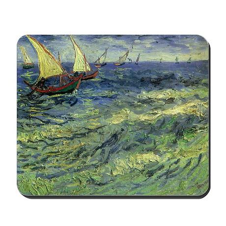 Van Gogh Seascape at Saintes Maries Mousepad