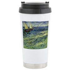 Van Gogh Seascape at Saintes Maries Travel Mug