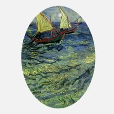 Van Gogh Seascape at Saintes Maries Ornament (Oval