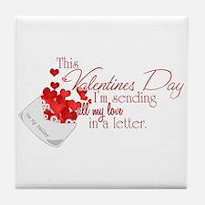 Love Letters (Sailor) Tile Coaster