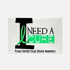 I Need A Cure CELIAC DISEASE Rectangle Magnet