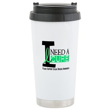 I Need A Cure CELIAC DISEASE Stainless Steel Trave