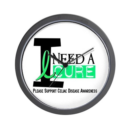 I Need A Cure CELIAC DISEASE Wall Clock