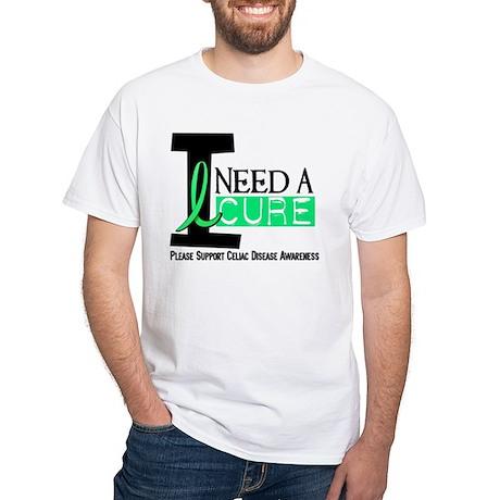I Need A Cure CELIAC DISEASE White T-Shirt