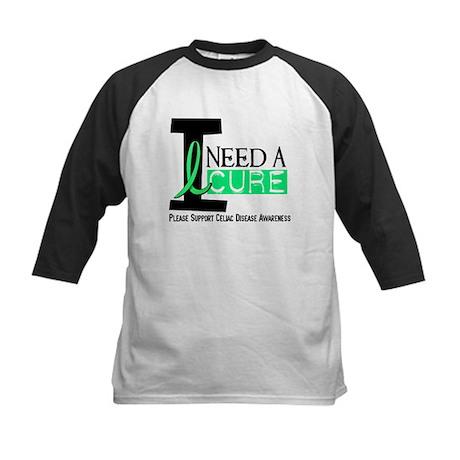 I Need A Cure CELIAC DISEASE Kids Baseball Jersey