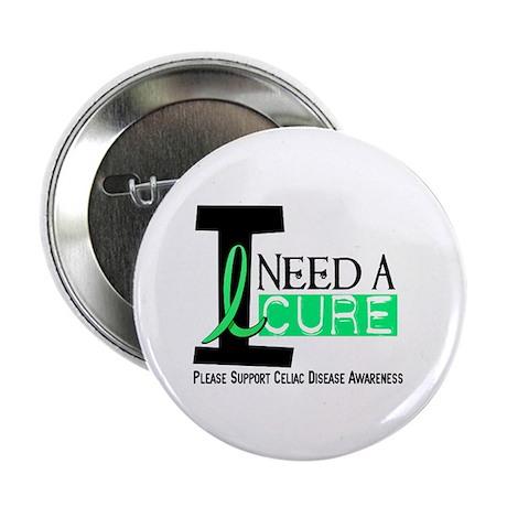 """I Need A Cure CELIAC DISEASE 2.25"""" Button (100 pac"""