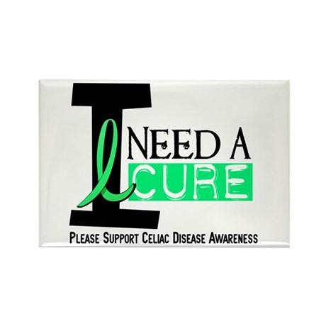 I Need A Cure CELIAC DISEASE Rectangle Magnet (10