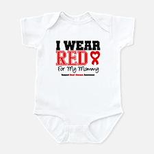 I Wear Red Mommy Infant Bodysuit