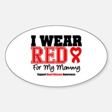 I Wear Red Mommy Oval Decal