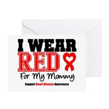 I Wear Red Mommy Greeting Card
