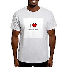 I LOVE CHOCOLATE BARS Ash Grey T-Shirt