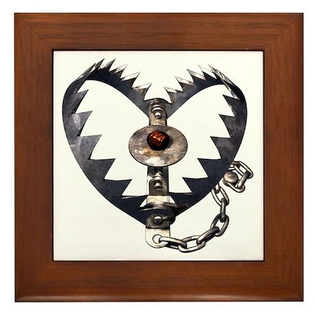 Bear Trap Heart Framed Tile